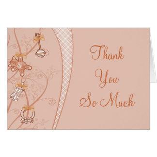 Nuestra nueva adición en tonalidades del melocotón tarjeta de felicitación
