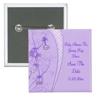 Nuestra nueva adición en tonalidades púrpuras pin cuadrado