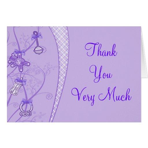 Nuestra nueva adición en tonalidades púrpuras tarjetas