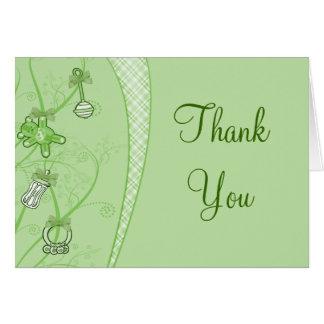Nuestra nueva adición en tonalidades verdes tarjeta de felicitación
