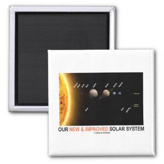 Nuestra nueva y mejorada Sistema Solar (humor galá Imán Cuadrado