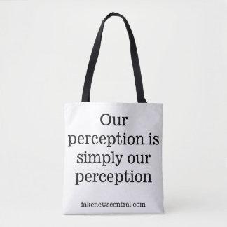 Nuestra opinión es simplemente nuestro bolso de la bolsa de tela