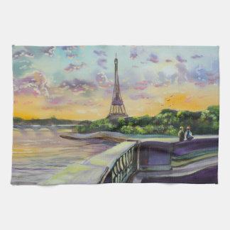 """""""Nuestra opinión torre Eiffel de París"""" que pinta Toalla De Cocina"""