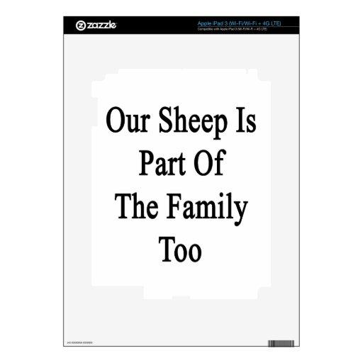 Nuestra oveja es parte de la familia también iPad 3 skins