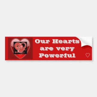Nuestra pegatina para el parachoques de los corazo pegatina para auto