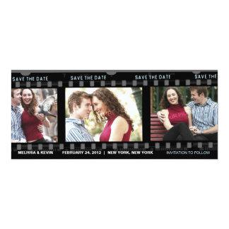 """Nuestra película del amor - ahorre la tarjeta de invitación 4"""" x 9.25"""""""