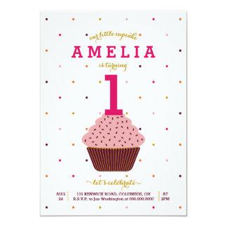 Nuestra pequeña invitación del cumpleaños de la invitación 12,7 x 17,8 cm