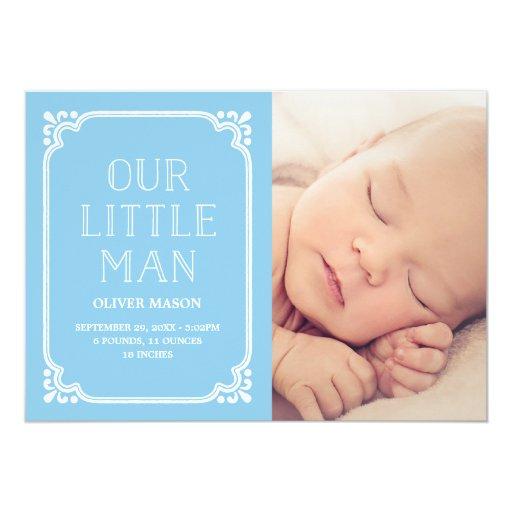 Nuestra pequeña invitación rústica del nacimiento