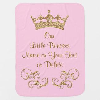 Nuestra pequeña princesa Baby Blanket PERSONALIZED Manta De Bebé