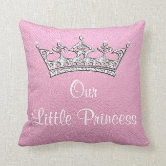 Nuestra pequeña princesa o almohada personalizada