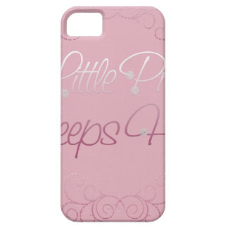 Nuestra pequeña princesa Sleeps Here Funda Para iPhone 5 Barely There