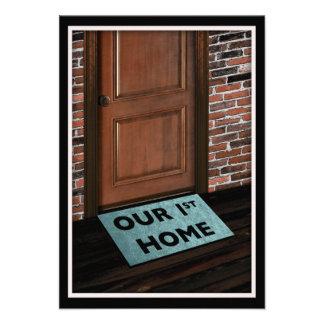 nuestra primera estera de puerta casera invitación personalizada