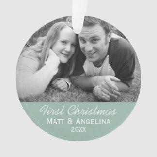 Nuestra primera foto del navidad - boda o