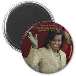 Nuestra primera señora, Michelle Obama Imanes De Nevera