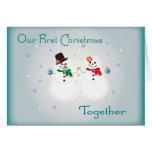 Nuestra primera tarjeta de felicitación del navida