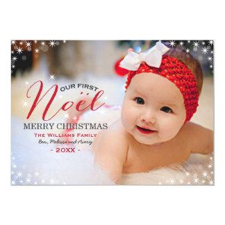 Nuestra primera tarjeta de Navidad de la foto de Invitación 12,7 X 17,8 Cm