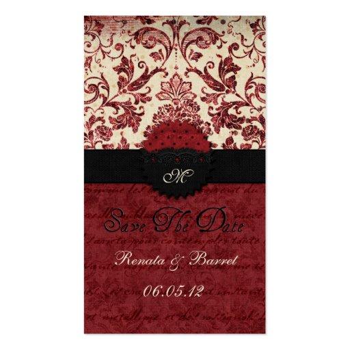 Nuestra reserva del boda la fecha tarjeta de visita