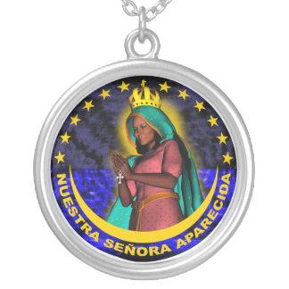 Nuestra Señora Aparecida Colgante Redondo