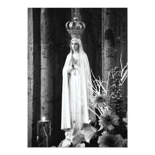 Nuestra señora de Fátima Invitación 12,7 X 17,8 Cm