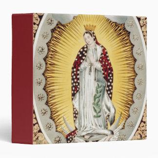 """Nuestra señora de Guadalupe Carpeta 1 1/2"""""""