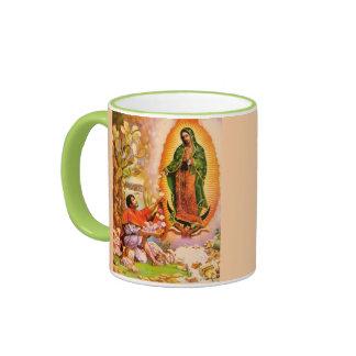 Nuestra señora de Guadalupe con Juan Diego Taza De Dos Colores
