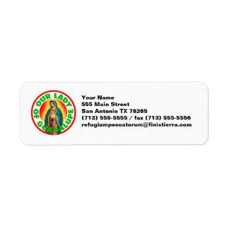 Nuestra señora de Guadalupe Etiquetas De Remite