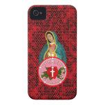 Nuestra señora de Guadalupe iPhone 4 Case-Mate Cárcasa