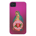 Nuestra señora de Guadalupe Case-Mate iPhone 4 Carcasa