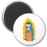 Nuestra señora de Guadalupe Imán Redondo 5 Cm