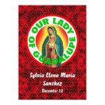 Nuestra señora de Guadalupe invita Invitación 12,7 X 17,8 Cm