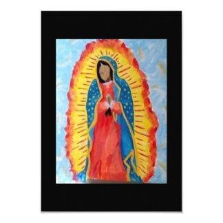 """Nuestra señora de Guadalupe Invitación 3.5"""" X 5"""""""