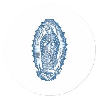 """Nuestra señora de Guadalupe Invitación 5.25"""" X 5.25"""""""