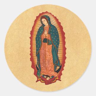 Nuestra señora de Guadalupe Etiquetas Redondas