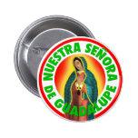 Nuestra Señora de Guadalupe Pin Redondo 5 Cm