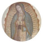Nuestra señora de Guadalupe Plato Para Fiesta