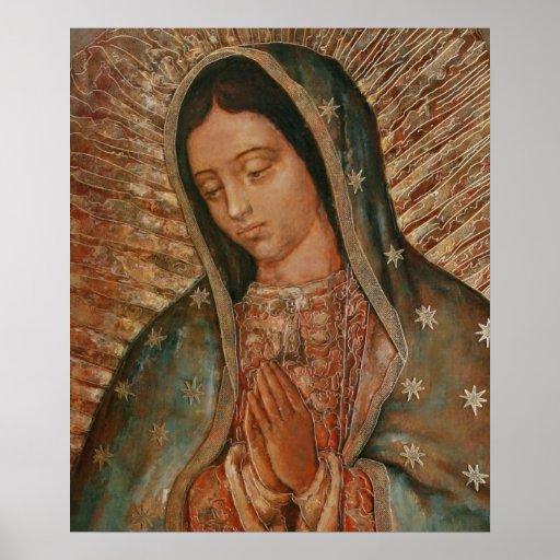 nuestra señora de Guadalupe Póster