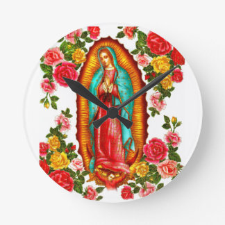 Nuestra señora de Guadalupe Reloj De Pared
