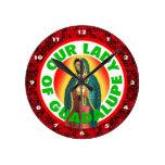Nuestra señora de Guadalupe Relojes De Pared