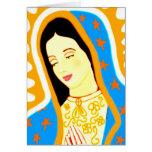 Nuestra señora de Guadalupe Tarjeta De Felicitación