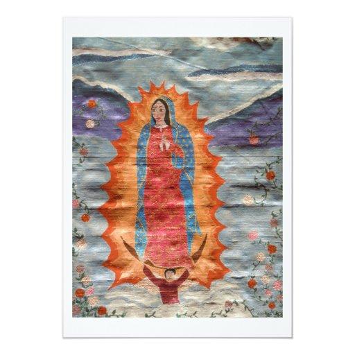 Nuestra señora de Guadalupe (versión del papiro) Invitacion Personal
