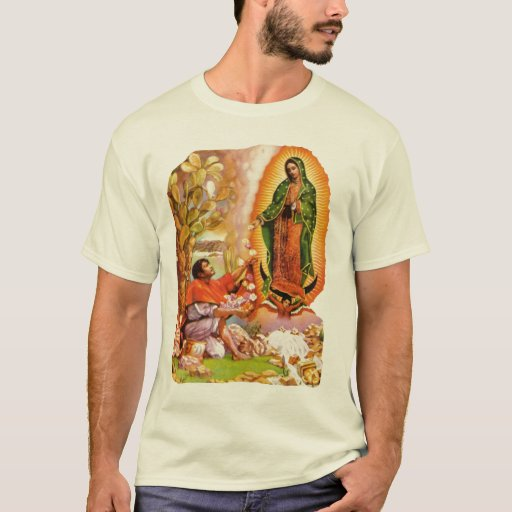 Nuestra señora de Guadalupe y santo Juan Diego Playera