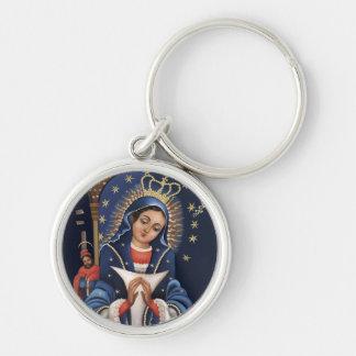 Nuestra Señora de la Altagracia (Llavero) Silver-Colored Round Keychain