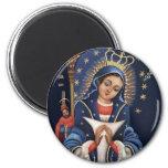 Nuestra Señora de la Altagracia Magnet Imán Redondo 5 Cm
