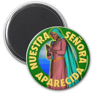 Nuestra Señora de la Concepción Aparecida 2 Inch Round Magnet