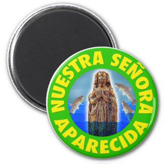 Nuestra Señora de la Concepción Aparecida Imán Redondo 5 Cm