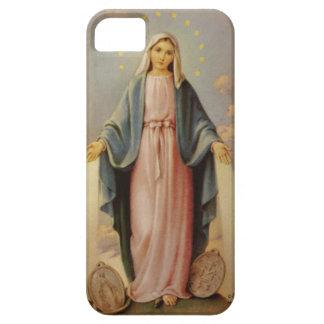 Nuestra señora de la madre bendecida rosario Maria iPhone 5 Case-Mate Cárcasa