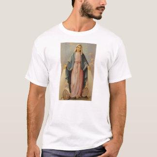 Nuestra señora de la madre bendecida rosario Maria Playera