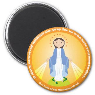 Nuestra señora de la medalla milagrosa imán redondo 5 cm