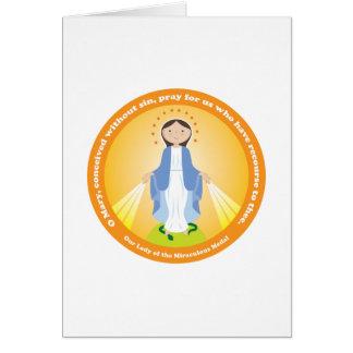 Nuestra señora de la medalla milagrosa tarjeta de felicitación