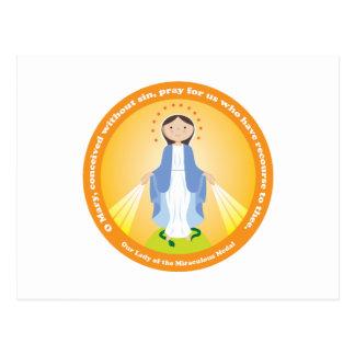 Nuestra señora de la medalla milagrosa tarjetas postales